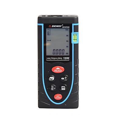 sndway sw-m100 100m lasersädemittari vahva akku käyttäen / kädessä pidettävää / helppokäyttöistä huonekalujen asennukseen / älykkään kodin mittaamiseen / tekniseen mittaukseen