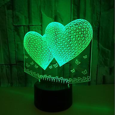 usb powered yksikkö yövalot 3d rakkaus energiansäästö silmä johtanut lamppu pöytävalaisin olohuone<5v