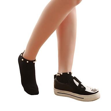 olcso Cipő kiegészítő-10 pár Női Zoknik Standard Egyszínű Dezodor Pamut EU36-EU42