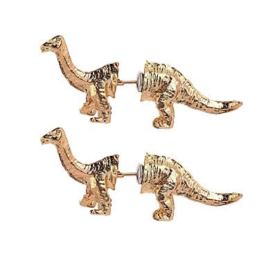 billige Moteøreringer-Dame Øredobber 3D Drager Dinosaur Unikt design Vintage Tegneserie øredobber Smykker Gull / Svart / Sølv Til Karneval Klubb 1 par