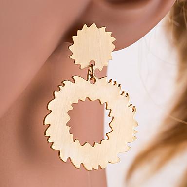 voordelige Dames Sieraden-Dames Zilver Goud Druppel oorbellen meetkundig Tandwiel Europees oorbellen Sieraden Goud / Zilver Voor Dagelijks 1 paar