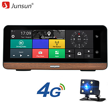 voordelige Automatisch Electronica-Junsun e31p 7,84 inch ips scherm fhd 1080p 4g adas android 5.1 auto dvr auto gps navigatie lus opname bluetooth gps wifi parkeermonitor met achteruitrijcamera