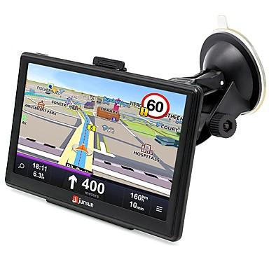 billige Bil Elektronikk-junsun d100-pt 7 tommers bil 3d gps bluetooth navigasjon av-i grensesnitt støtte Windows ce 6.0 kart med gratis oppdateringer