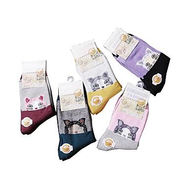 voordelige Schoenenaccessoires-20 paren Dames Sokken Standard Cartoon Deodorant Katoen EU36-EU42