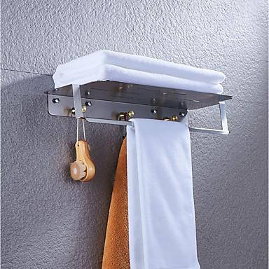 Kylpyhuonetarvikesetti / Vaatekoukku / Kylpyhuonehylly Uusi malli / Tyylikäs / Monikäyttö Nykyaikainen / Antiikki Messinki 1kpl - Kylpyhuone Double / 3-pyyhetanko Seinäasennus