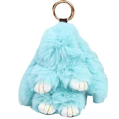 baratos Bijuteria de Mulher-Chaveiro Rabbit Animais Casual Fashion Anéis Jóias Rosa Claro / Azul Real / Lavanda Para Presente Escola
