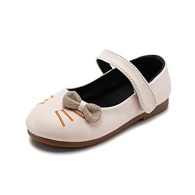 baratos Sapatos de Criança-Para Meninas Couro Ecológico Rasos Tira no Tornozelo Preto / Bege Primavera / Outono