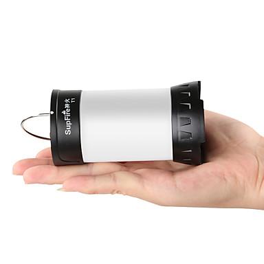 billige Lommelykter & campinglykter-Supfire T1 Lanterner & Telt Lamper Nødlys Fiskelys 100 lm LED LED 1 emittere 3 lys tilstand med batteri og USB-kabel Vanntett Slitasje-sikker Holdbar Camping / Vandring / Grotte Udforskning