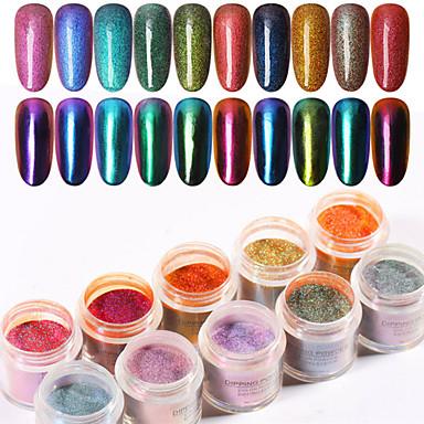 1 Pcs Patinata - Colore Variabile Glitter Glitter Per Unghia Della Mano Fantasia Manicure Manicure Pedicure Quotidiano Alla Moda - Punk #07314712 Vendita Calda 50-70% Di Sconto