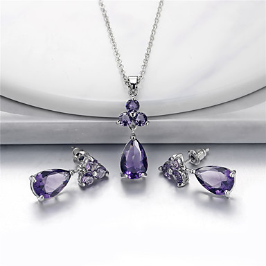 804db8e4a4 cheap Jewelry Sets-Women's Cubic Zirconia Vintage Style Jewelry Set  Pear