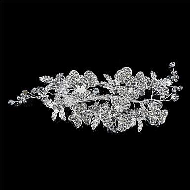 abordables Coiffes-Cristal / Strass / Alliage Coiffe / Casque / Pince à cheveux avec Détail Cristal / Paillettes / Cristal / strass 1 Pièce Mariage / Fête / Soirée Casque
