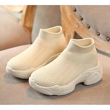 voordelige Babyschoenentjes-Meisjes Comfortabel / Eerste schoentjes Flyknit Laarzen Zuigelingen (0-9m) Zwart / Beige Lente / Korte laarsjes / Enkellaarsjes