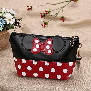 baratos Super Ofertas-Mulheres Ziper PU Bolsa de Mão Estampa Colorida Vermelho / Rosa / Azul Marinha