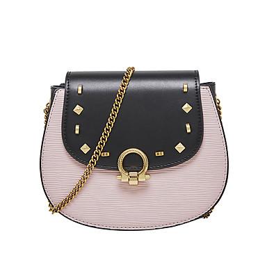 f38837a94811 Női Szegecs / Lánc Vállon átvetős táska PU Színes Fehér / Arcpír rózsaszín  / Ősz & tél