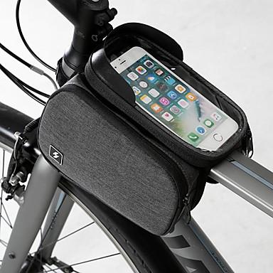 billige Sykkelvesker-Mobilveske Vesker til sykkelramme 6.2 tommers Berøringsskjerm Bærbar Sykling til Samsung Galaxy S6 Samsung Galaxy S6 edge LG G3 Svart Vei Sykkel Fjellsykkel Utendørs / iPhone XS Max / iPhone XS