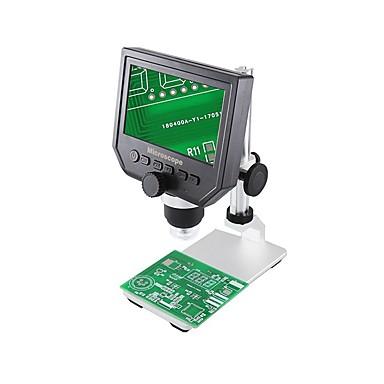 voordelige Microscopen & Endoscopen-beste 600x digitale elektronische microscoopreparatietool - zwart