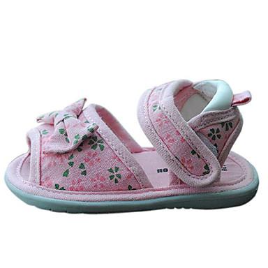 voordelige Babyschoenentjes-Meisjes Comfortabel / Eerste schoentjes Katoen Sandalen Strik Roze Zomer