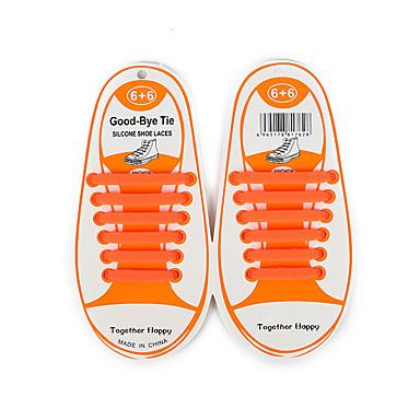 abordables Accessoires pour Chaussures-1 Pièce Silicone Lacet Unisexe Toutes les Saisons Quotidien / Décontracté Vert / Bleu / Rose