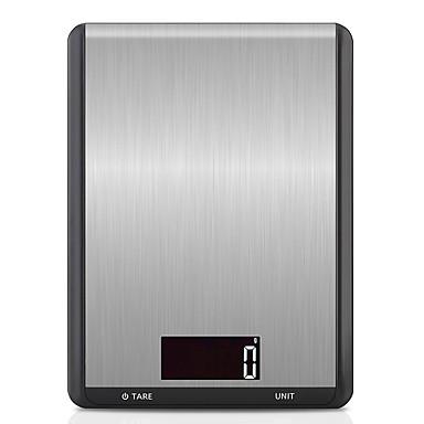 voordelige Test-, meet- & inspectieapparatuur-10 kg / 5g digitale keukenweegschaal rvs multifunctionele voedsel dieet keuken weegschaal elektronische balans kookgerei