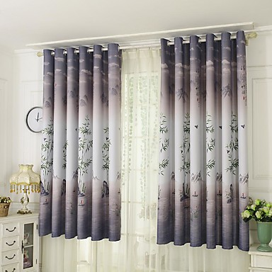 Contemporary One Panel Curtain Bedroom Curtains