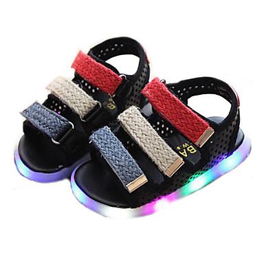 voordelige Babyschoenentjes-Jongens Oplichtende schoenen Synthetisch Sandalen Peuter (9m-4ys) / Little Kids (4-7ys) Wit / Zwart / Roze Zomer / Rubber