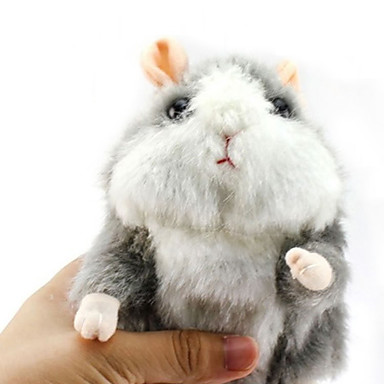 voordelige Knuffels & Pluche dieren-Hamster Knuffeldieren Sprekend Dieren Schattig / Speeltjes Geschenk 1 pcs