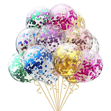 cheap Pre Sale-10pcs/lot Clear Balloons Gold  Foil Confetti Transparent Balloons Happy Birthday Baby Shower Wedding Party Decorations