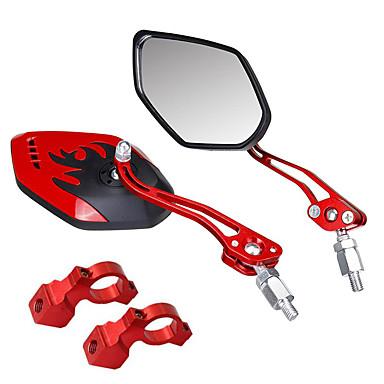 billige Sykkeltilbehør-Bakspeil Speil til sykkelstyre Justerbare Holdbar Stor baksynsvinkel 360° rotasjon Verneutstyr Til Fjellsykkel Foldesykkel Fritidssykling Sykling Aluminum Alloy PVC Svart Rød Blå