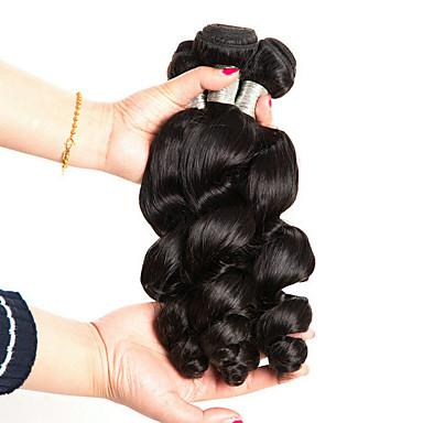 voordelige Weaves van echt haar-3 bundels Braziliaans haar Los golvend 100% Remy haarweefselbundels Menselijk haar weeft Bundle Hair Een Pack Solution 8-28 inch Natuurlijke Kleur Menselijk haar weeft Creatief Klassiek Cool