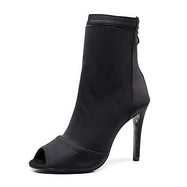 povoljno Dance Boots-Žene Eko koža Ples čizme Štikle Tanka visoka peta Moguće personalizirati Crn / Seksi blagdanski kostimi / Vježbanje