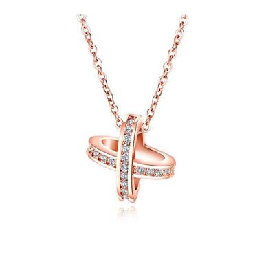 e23529476808 Mujer Claro Blanco Zirconia Cúbica Geométrico Charm Necklace Chapado en Oro  Diamante Sintético Estrella Moda Cool Blanco Oro Rosa 40 cm Gargantillas  Joyas ...