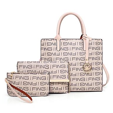 Damen Reißverschluss Bag Set Beutel Sets Polyester / PU Einfarbig 3 Stück Geldbörse Set Weiß / Schwarz / Rosa / Herbst Winter