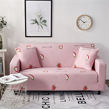 Magnificent Strawberry Durable Soft High Stretch Slipcovers Sofa Cover Ncnpc Chair Design For Home Ncnpcorg