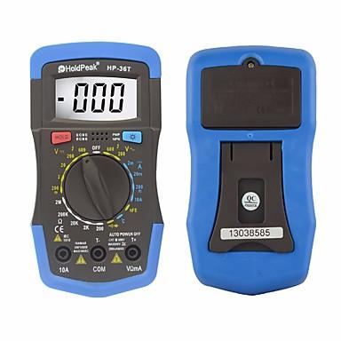 voordelige Test-, meet- & inspectieapparatuur-holdpeak hp-36t handmatig bereik digitale tester professionele multimeter dc wisselstroomweerstand temperatuur meetinstrument