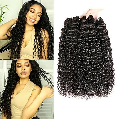 baratos Extensões de Cabelo Natural-3 pacotes Cabelo Peruviano Onda de Água Cabelo Virgem 100% Remy Hair Weave Bundles Peça para Cabeça Cabelo Bundle Extensões de Cabelo Natural 8-28 polegada Natural Tramas de cabelo humano Feminino