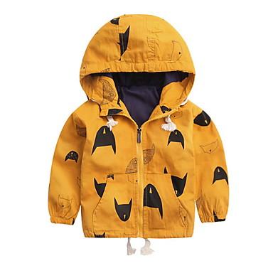 baratos Jaquetas & Casacos para Meninos-Infantil Para Meninos Moda de Rua Estampado Estampado Padrão Jaqueta & Casaco Amarelo