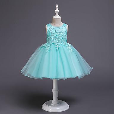 b553a5e4e cheap Girls  039  Dresses-Kids Girls  039  Active Sweet Solid Colored
