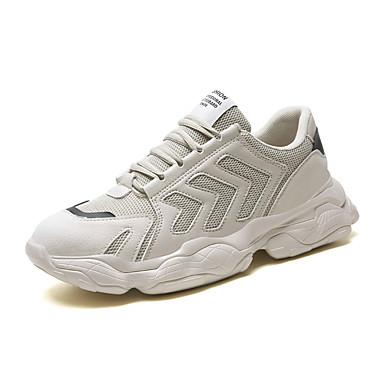 Erkek Ayakkabı Örümcek Ağı Sonbahar / İlkbahar yaz Sportif / Günlük Atletik Ayakkabılar Koşu Günlük / Dış mekan için Siyah / Beyaz / Bej