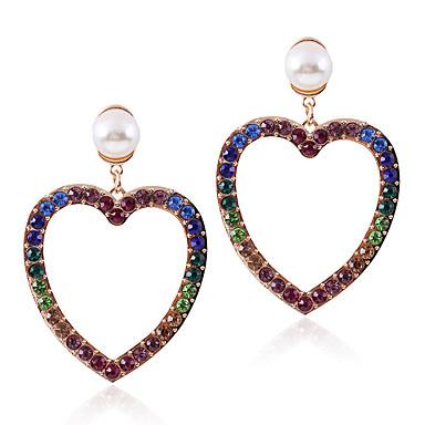 c05284c53 Women's Earrings Imitation Pearl Imitation Diamond Earrings Heart European  Trendy Sweet Fashion Modern Colorful Jewelry Gold / Silver For Party Daily  Street ...