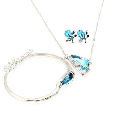 790beb064b99 abordables Accesorios para Fiestas-Mujer Geométrico Conjunto de joyas  Diamante Sintético Mariposa Boho Incluir Collar