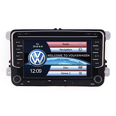 billige Bil Elektronikk-ABACK 7 inch Double 2 Din Navigation DVD Auto Audio Video For VW Universal 7 tommers 2 Din Windows CE I-Instrumentpanel / Bil GPS Navigator Innebygget Bluetooth / Rattkontroll / SD / USB-support til