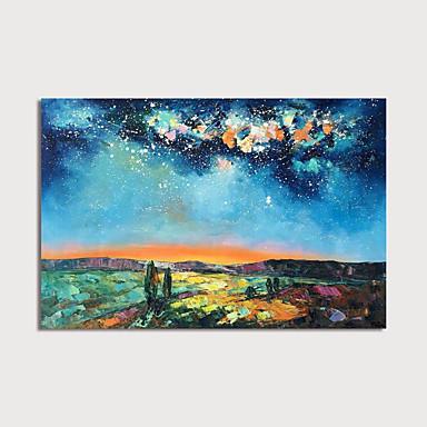 Hang-malované olejomalba Ručně malované - Abstraktní Krajina Moderní Obsahovat vnitřní rám