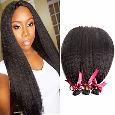 voordelige Weaves van echt haar-6 bundels Braziliaans haar KinkyRecht 100% Remy haarweefselbundels Menselijk haar weeft Bundle Hair Een Pack Solution 8-28 inch(es) Natuurlijke Kleur Menselijk haar weeft Geurvrij Zacht Dik