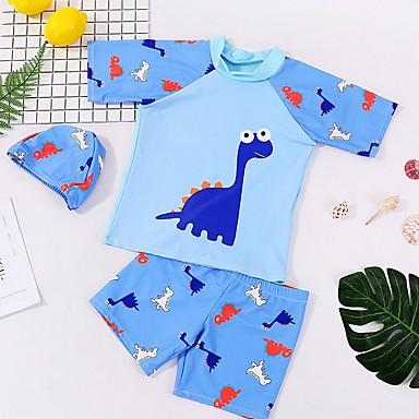 povoljno Kupaći za dječake-Djeca Dječaci Print Pamuk Kupaći kostim Plava