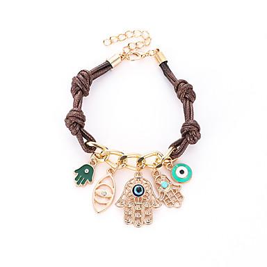 abordables Bracelet-Loom Bracelet Femme Géométrique Yeux Classique Bracelet Bijoux Dorée pour Plein Air Vacances Festival