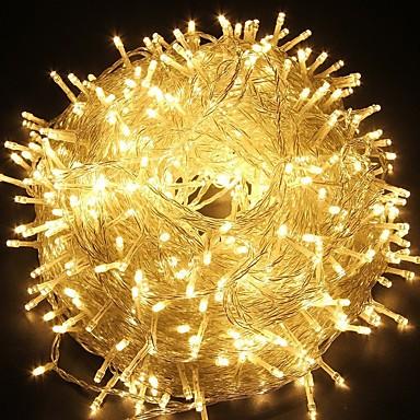100M חוטי תאורה 600 נוריות Dip Led לבן חם עמיד במים / Party / דקורטיבי 220-240 V 1pc / IP44