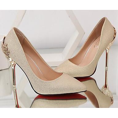 4b21a5caf1 Mujer Ante Primavera Zapatos de boda Tacón Stiletto Negro / Plata / Rojo /  Boda / Fiesta y Noche
