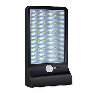 1pc 4 W תאורת קירות חוץ / השמש אור השמש עמיד במים / סולרי / חיישן איפרא אדום לבן 3.7 V תאורת חוץ / חָצֵר / גן 36 LED חרוזים