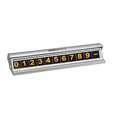 voordelige Auto-interieur accessoires-fluorescerende zwart zilver verborgen auto tijdelijke parkeerplaats telefoonnummer kaart plaat