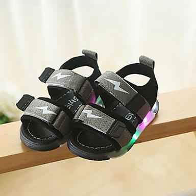 voordelige Babyschoenentjes-Jongens Oplichtende schoenen Synthetisch Sandalen Kinderen / Peuter Zwart / Grijs / Rood Zomer / Rubber